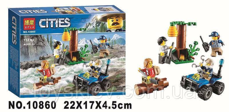 """Конструктор лего Bela 10860 """"Убежище в горах"""", 112 деталей. (аналог Lego City 60171)."""