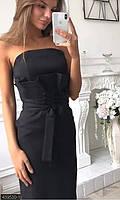 Платья миди приталенные ,платья женские люкс ,платье красное женское ,черное платье бант