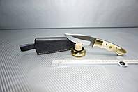 Нож ручная работа нержавеющая сталь кость чехол кожа ОХОТА РЫБАЛКА распродажа акция, фото 1