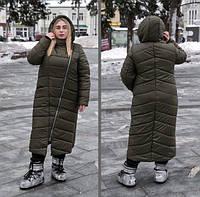 Женская куртка длинная с косой молнией, с 42 по 82 размер, фото 1