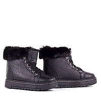 Женские зимние ботинки на шнуровке