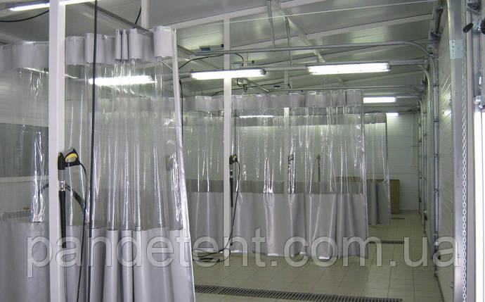 Шторы перегородки в авто мойку, тентовая штора с прозрачной плёнкой, фото 2