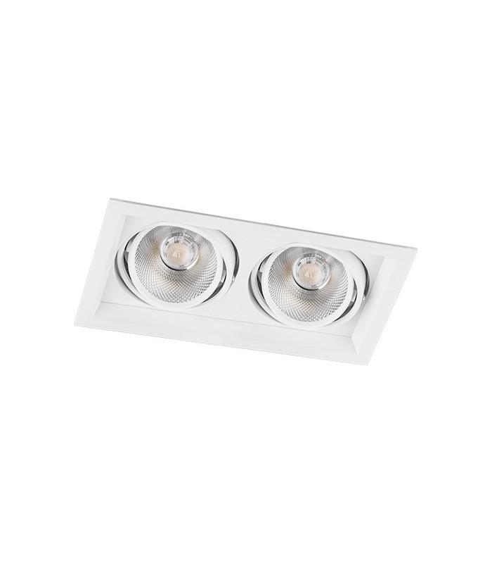 Карданный светильник Feron AL202 2xCOB*12W LED белый