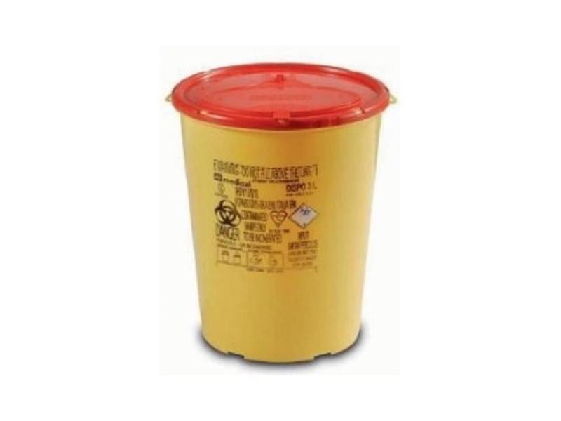 Одноразовый круглый контейнер желто/красный DISPO объемом 4,0 л