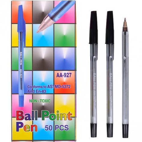 Ручка шариковая 927 «С» черная 1 упаковка (50 штук)                                С-927, фото 2