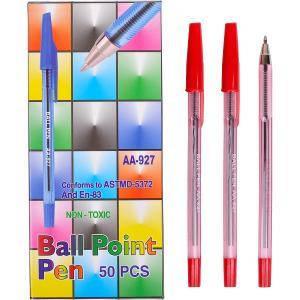 Ручка шариковая  «С» красная 1 упаковка (50 штук), фото 2