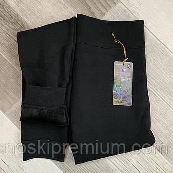 Лосины термо женские бесшовные хлопок с кашемиром на меху Шугуан, чёрные, размер 3XL, 6606