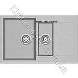 Гранитная мойка AquaSanita Tesa SQT-151 (800х500 мм.), фото 9