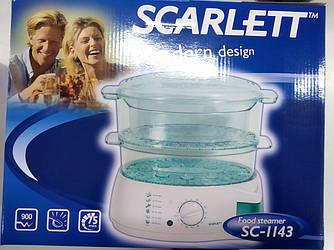 Пароварка Scarlett SC-1143 900 Вт таймер 75 мин, 3 резервуара (2,2л., 2,4 л., 3,6 л.)