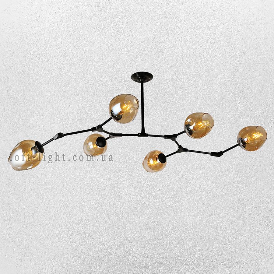 Люстра молекула  56-LPR0231-6 BK+BR