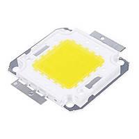 Мощный светодиод 100Ватт COB(квадрат) белый.