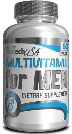 Витамины для мужчин Multivitamin for Men BioTech 60 caps, фото 2