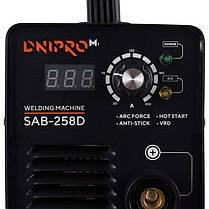 Сварочный аппарат инвертор сварка Dnipro-M SAB-258D + Хамелеон + Электроды (260 N DP DPB PW SP), фото 2