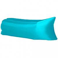 Шезлонг диван надувной лежак гамак 240 см Голубой