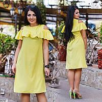 Платье летнее женское легкое бенгалин 50-56 размеров Турция, 3 цвета