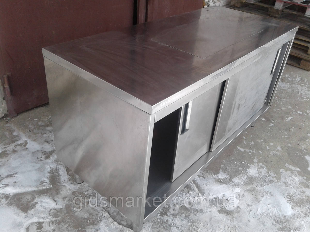 Стол тумба с нержавеющей стали б у, стол нержавейка б/у, нержавеющий стол - тумба б у