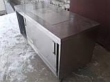Стол тумба с нержавеющей стали б у, стол нержавейка б/у, нержавеющий стол - тумба б у, фото 2