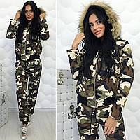 Женский зимний костюм Милитари 11403, фото 1