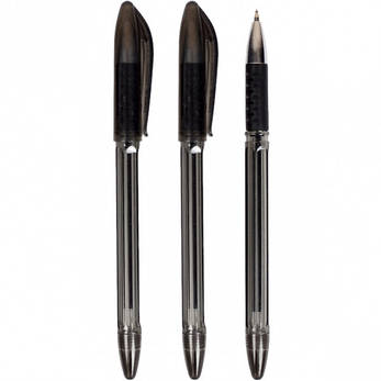 Ручка масляная  «С» тонированная черная  1 упаковка (50 штук), фото 2