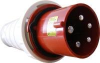 Вилка силова кабельна переносна роз'єм ВП 125А/5 3Р+N+РЕ (045)