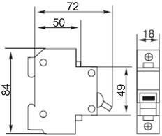 Автоматический выключатель 1р 10А