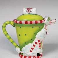 Фарфоровый заварочный чайник Пудель (Pavone)