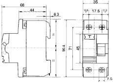 Устройство защитного отключения двухполюсное 220В 25А (УкрЕМ ПЗВ-2001 2р/25А/30мА АсКо)