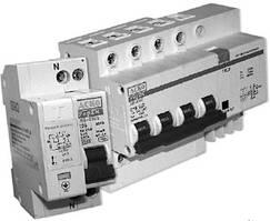 Дифференциальный выключатель 4-полюсный 380В 16А (ДВ-2006 4p 16А 30мА)