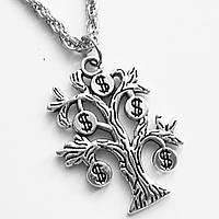"""Кулон амулет """"Денежное дерево"""" на цепочке под серебро., фото 1"""