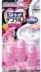"""Гель для унитаза очищающий """"Aroma Pink Rose"""" Kobayashi,3 шт (03869), фото 2"""