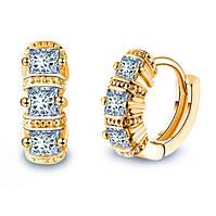 """Серьги """"Hermes gold"""" позолоченные с кристаллами swarovski"""