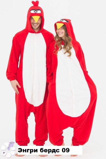 Пижама кигуруми Энгри бердс 09 (размер 42-48)