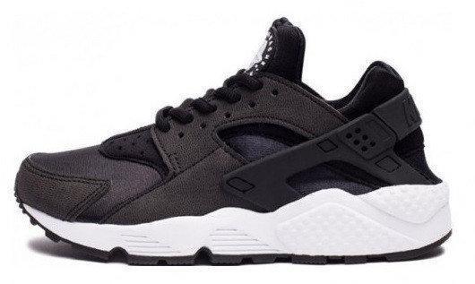 b21e0828 Женские кроссовки Nike Air Huarache Black White (найк хуарачи, черные/белые)  -