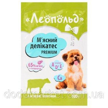 Влажный корм для собак Леопольд Мясные деликатесы с телятиной 24 шт/100 гр