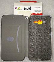 Чохол книжка LEVEL (Kira) Samsung J500 (J5) Black, фото 3