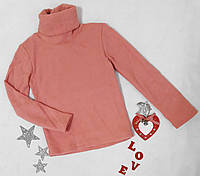 Гольф детский, трикотаж на флисе, размер 98,розовый, фото 1
