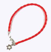 Браслет  красная нить Звезда Давида
