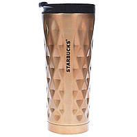 Термокружка 0,45 л Starbucks Diamond коричневая, фото 1