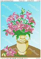 """Схема для вышивки """"Розовые лилии"""""""