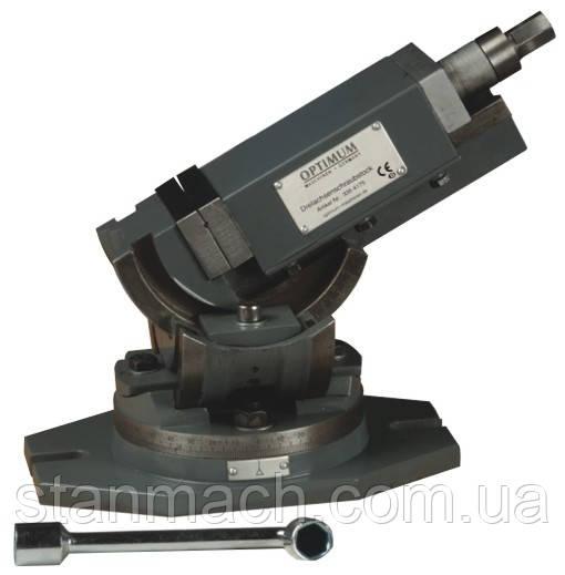 Трехосевые станочные тиски Optimum MV3-75 \ MV3-125