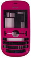 Передняя панель корпуса (рамка дисплея) Nokia 200 Asha Pink