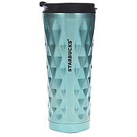 Термокружка 0,45 л Starbucks Diamond голубая, фото 1
