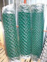 Сетка Рабица с ПВХ покрытием 55х55х2,5 (1,2х10)