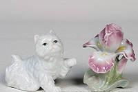 """Фарфоровый набор соль-перец """"Котенок с ирисом"""" (Pavone) CMS - 04/ 5"""