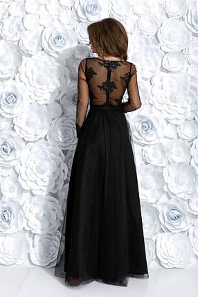 """Длинное вечернее платье """"ALIANTE"""" с вышивкой и пайетками (2 цвета), фото 2"""