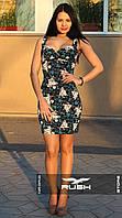 Летнее мини-платье с цветочным узором, фото 1