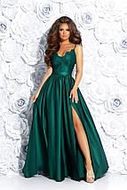 """Длинное шелковое платье на бретельках """"RIADELLA"""" с вышивкой и разрезом (4 цвета), фото 3"""
