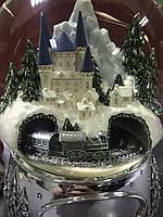 """Музыкальный стеклянный шар """"Паровоз -Замок"""". Эксклюзивный подарок! (США)"""