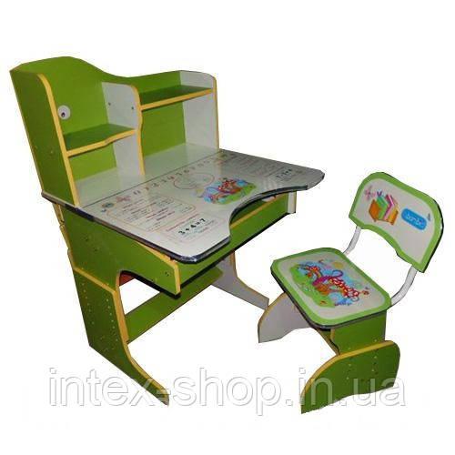 Детская парта со стульчиком трансформер Bambi HB 2071-07-7 (стол-парта-растишка, 5 положений)