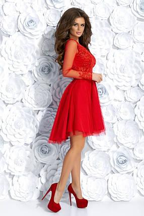 """Асимметричное коктейльное платье """"ALIANTE"""" с вышивкой и пайетками , фото 2"""